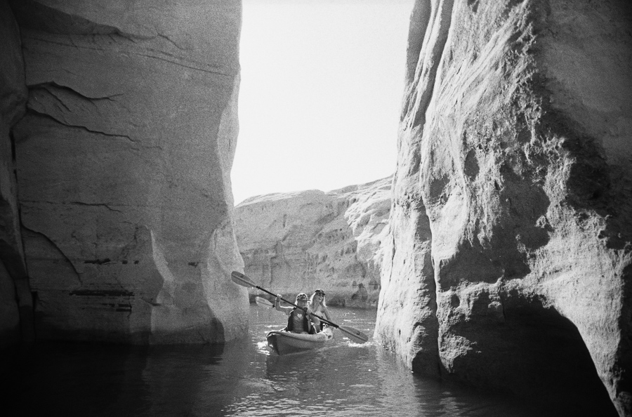 ^ Our last day at Lake Powell was spent kayaking around slot canyons, finding our own private rock beaches to lounge in, and kayaking some more. Paradise.