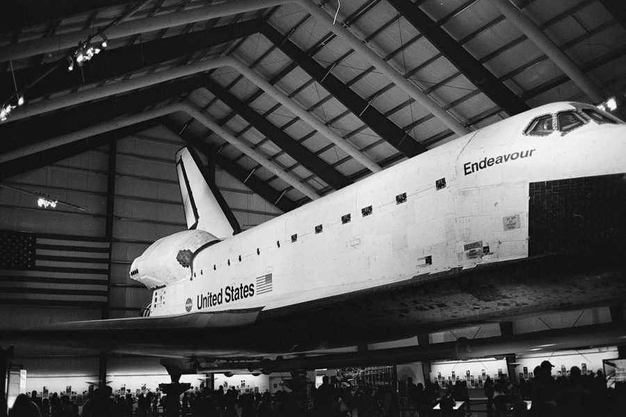 ^ The space shuttle Endeavour at the  California Science Center , hands down one of the cooler things we've ever seen...nerd out love was at maximum warp.