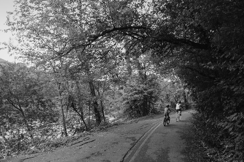 ^ Riding around Radnor Lake.