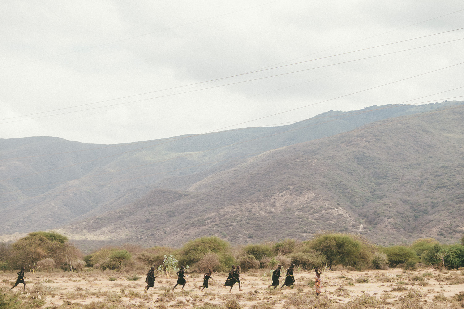 ^ Masai boys out on their Enkipaata, a ritual where a group of boys ages 14-16 travel alone across their territory for a period of up to 4 months before undergoing their circumcision ceremony back at their home.