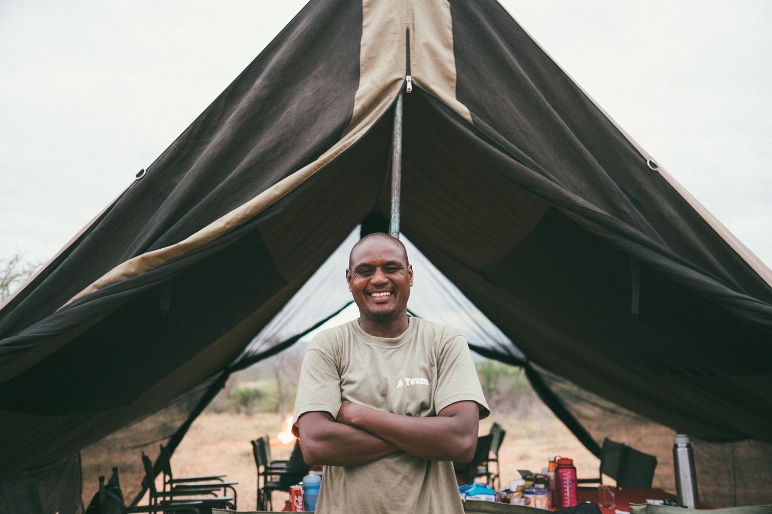 ^ Our camp master and chef, Simba! Stomach filler, early morning waker-upper, and permanent smile and high five giver.