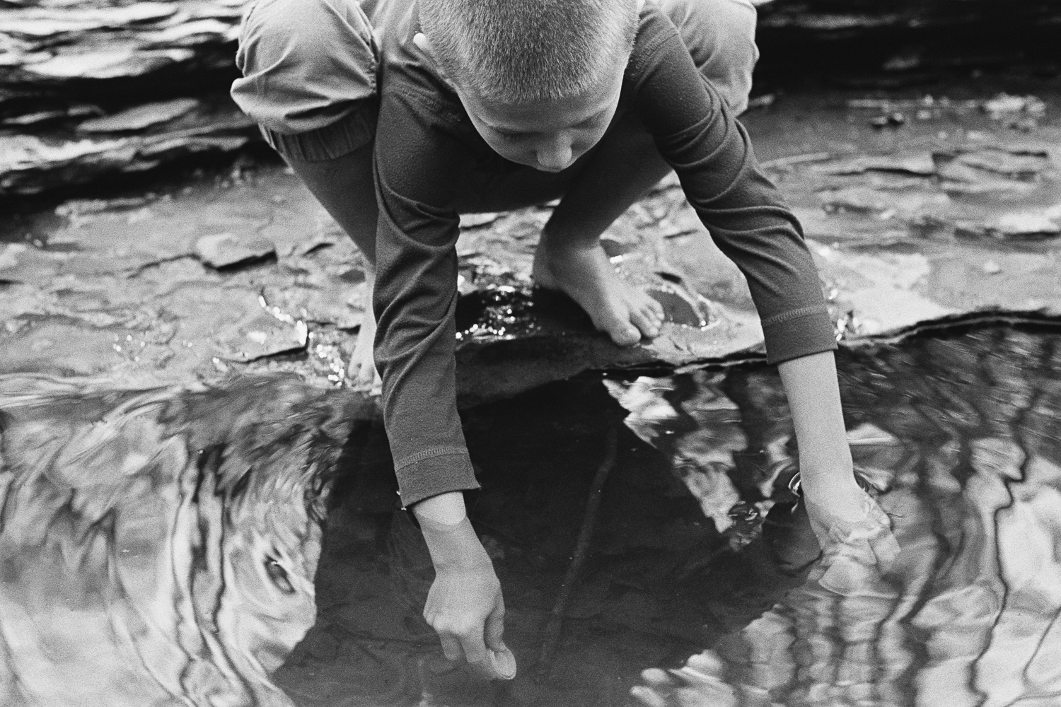 ^ Convinced he was going to catch a fish with my film canister.