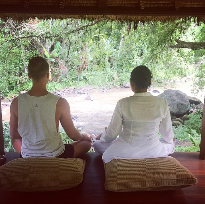My Private mediation session on the banks of Bali'ssacredAyungriver. Sayan