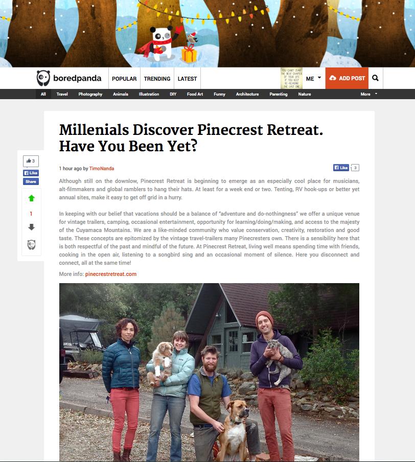 Pinecrest gets featured on online magazine  BoredPanda .