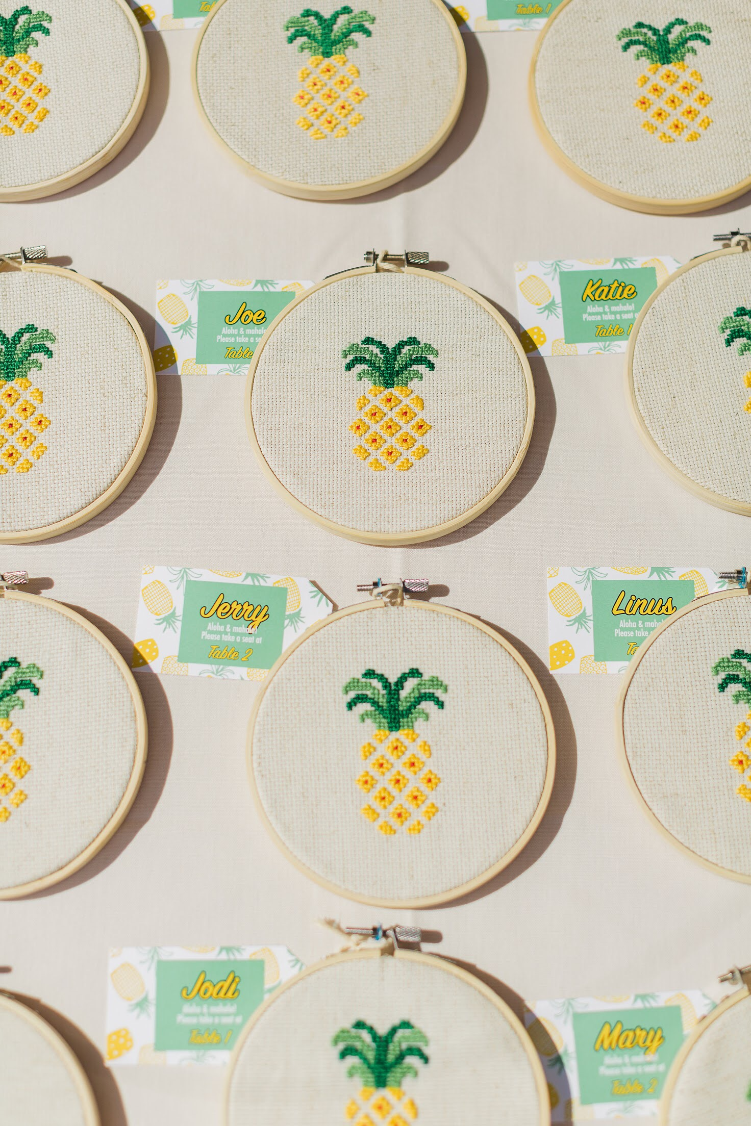 Pineapple cross stitches