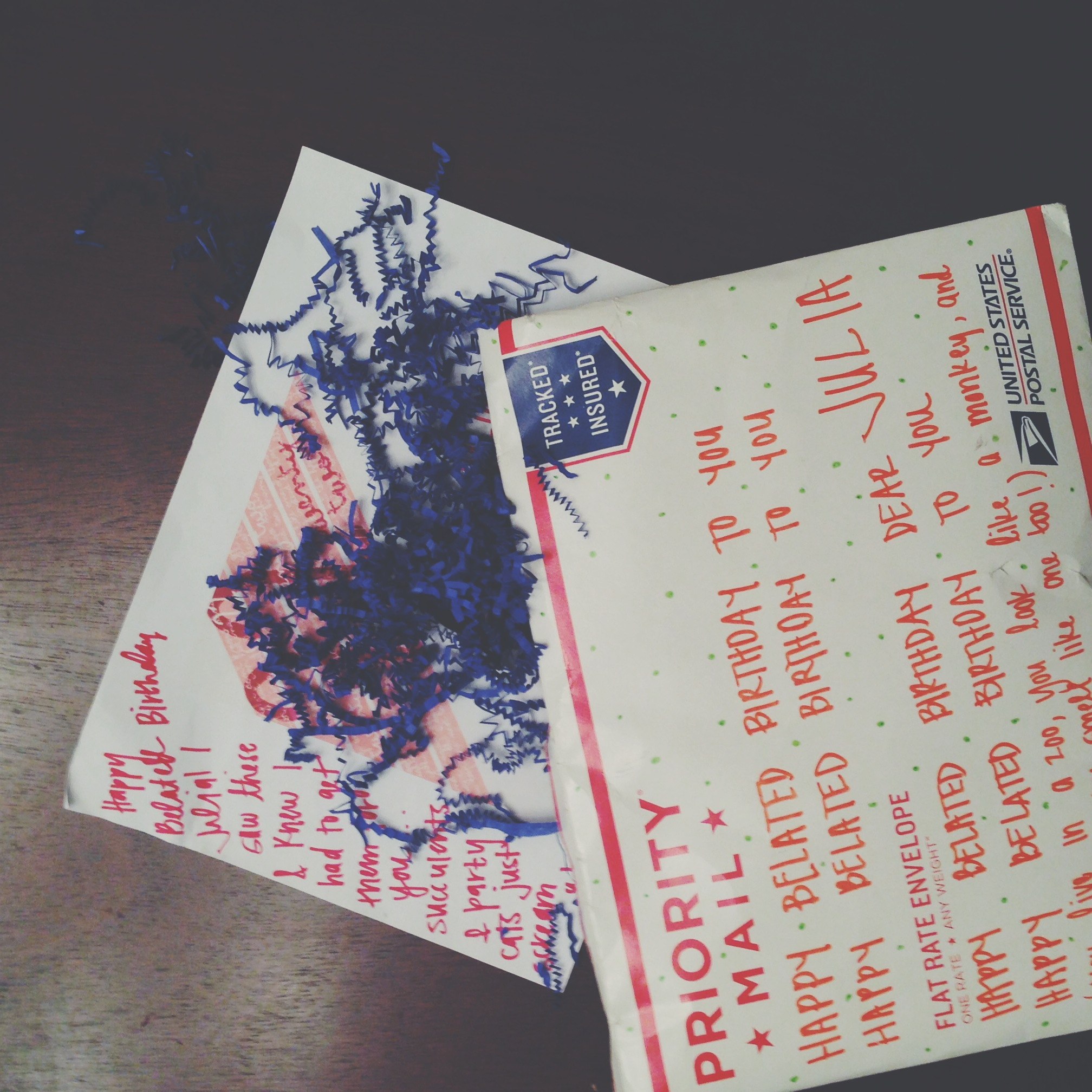 Birthday mail was awaiting at home <3.