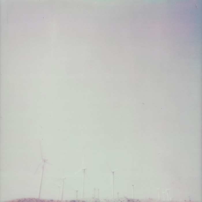 Polaroid of windmills