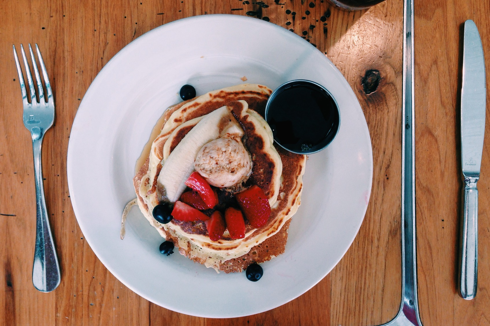 Thursday's breakfast // ricotta pancakes