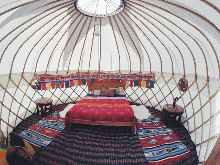 Our yurt, shot by Emily on her GoPro