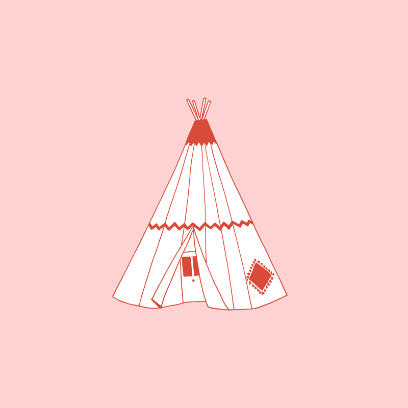 A little illustration I did of the Wigwam Motel