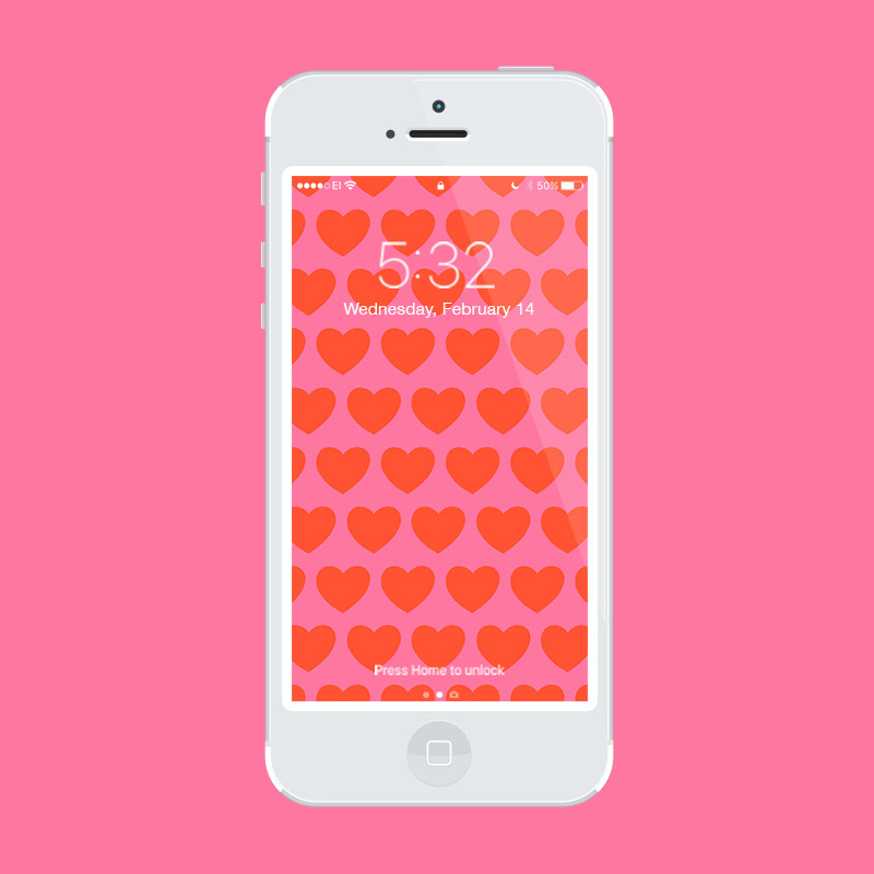 Julia Walck | Valentine's Day Freebie Phone Wallpapers | Patterned Hearts
