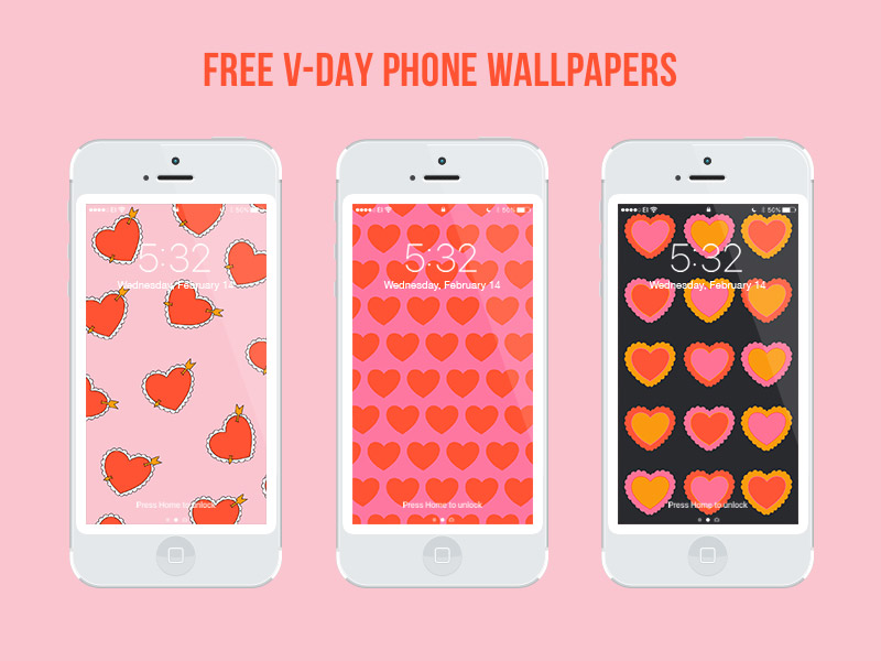 Julia Walck | Valentine's Day Freebie Phone Wallpapers