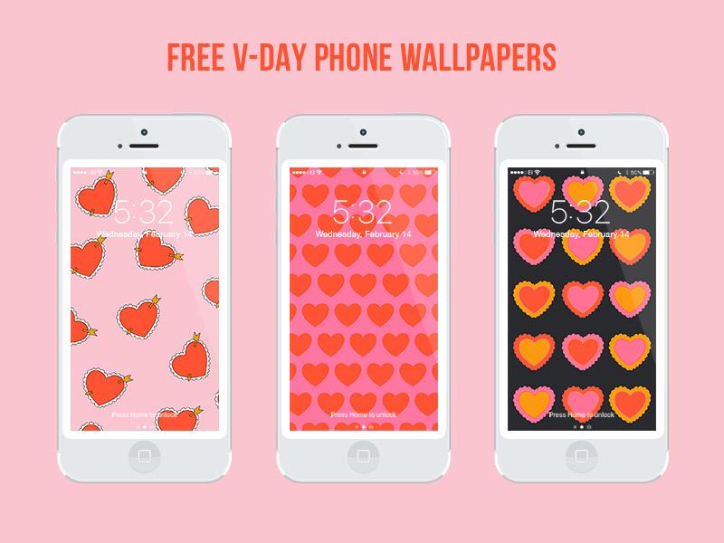 Julia Walck | Valentine's Day Freebie Phone Wallpapers