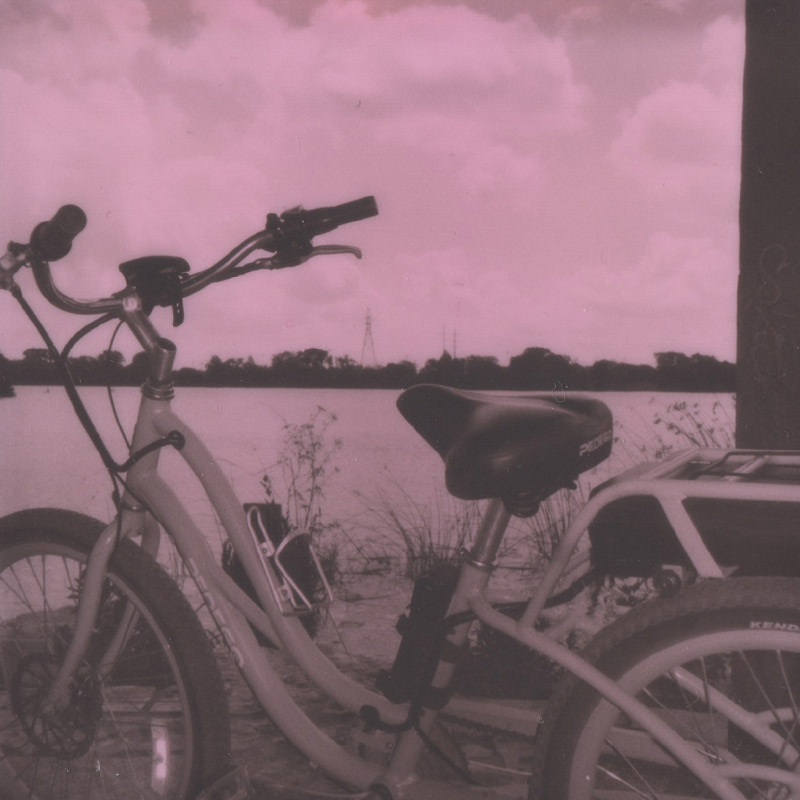 Polaroid | Pedego Bike on Ladybird Lake | Austin, TX | Julia Walck