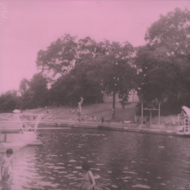 Polaroid | Diver at Barton Springs Pool | Austin, TX | Julia Walck