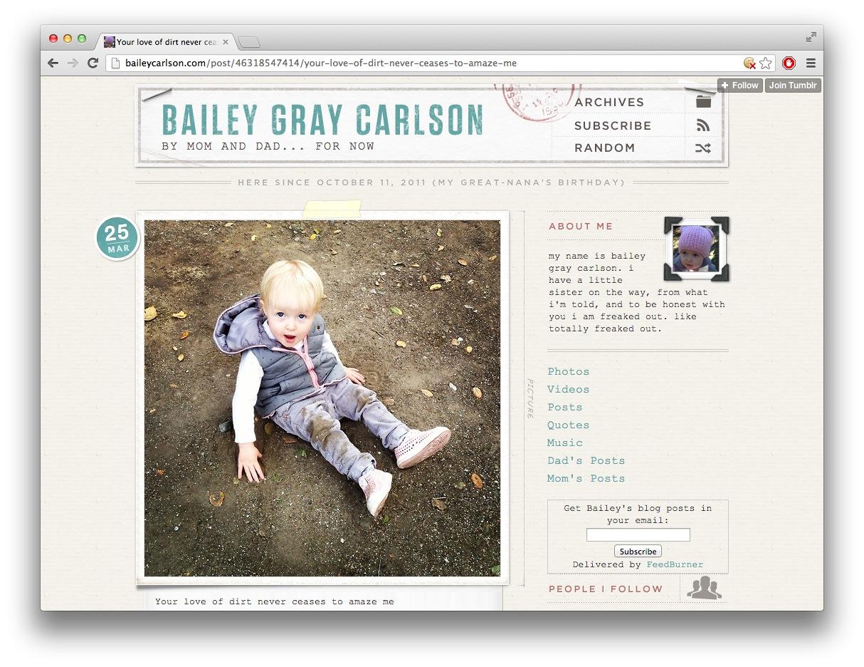 My amazing daughter Bailey Gray