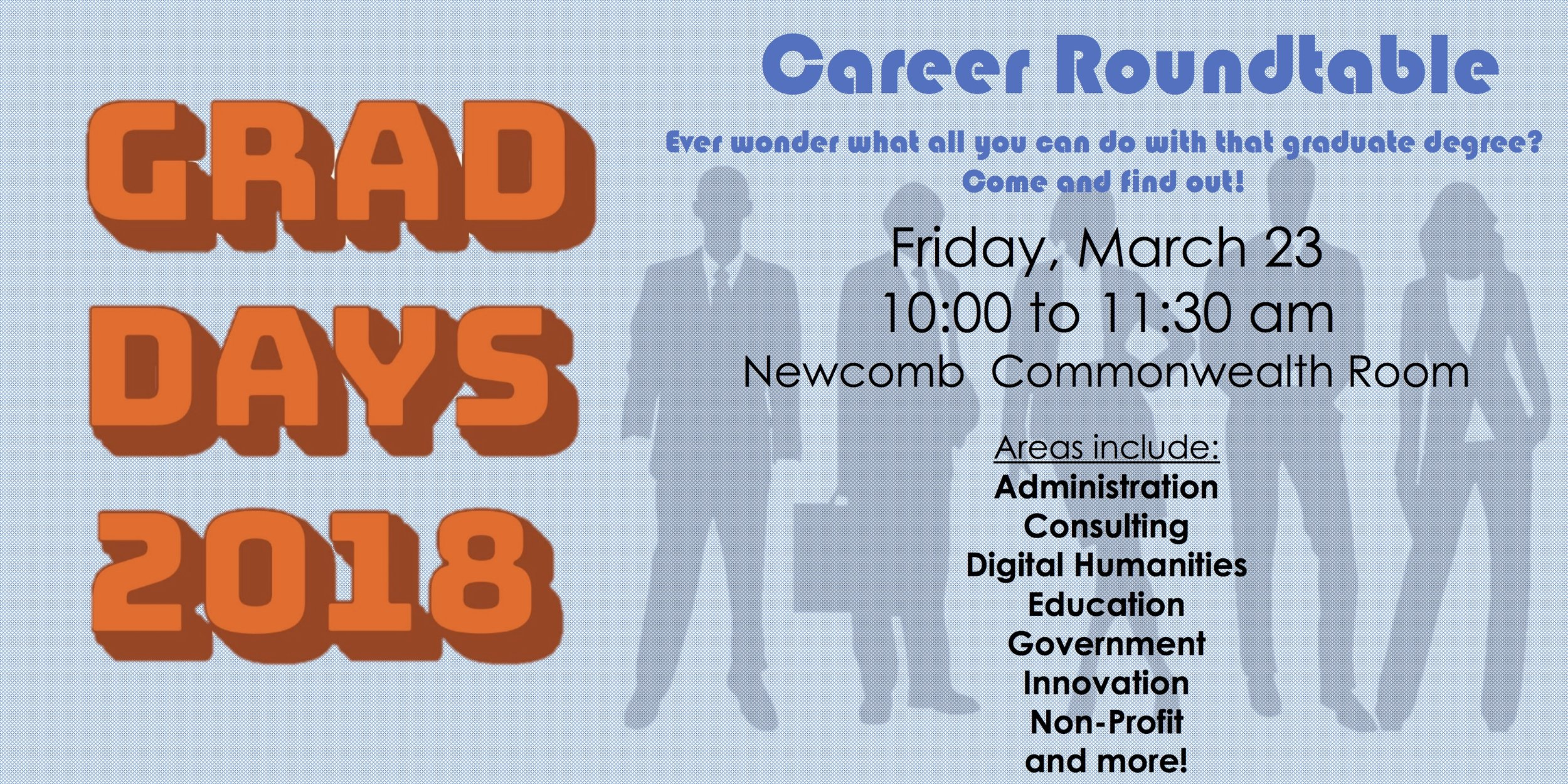 Career Roundtable — UVA Graduate School of Arts & Sciences