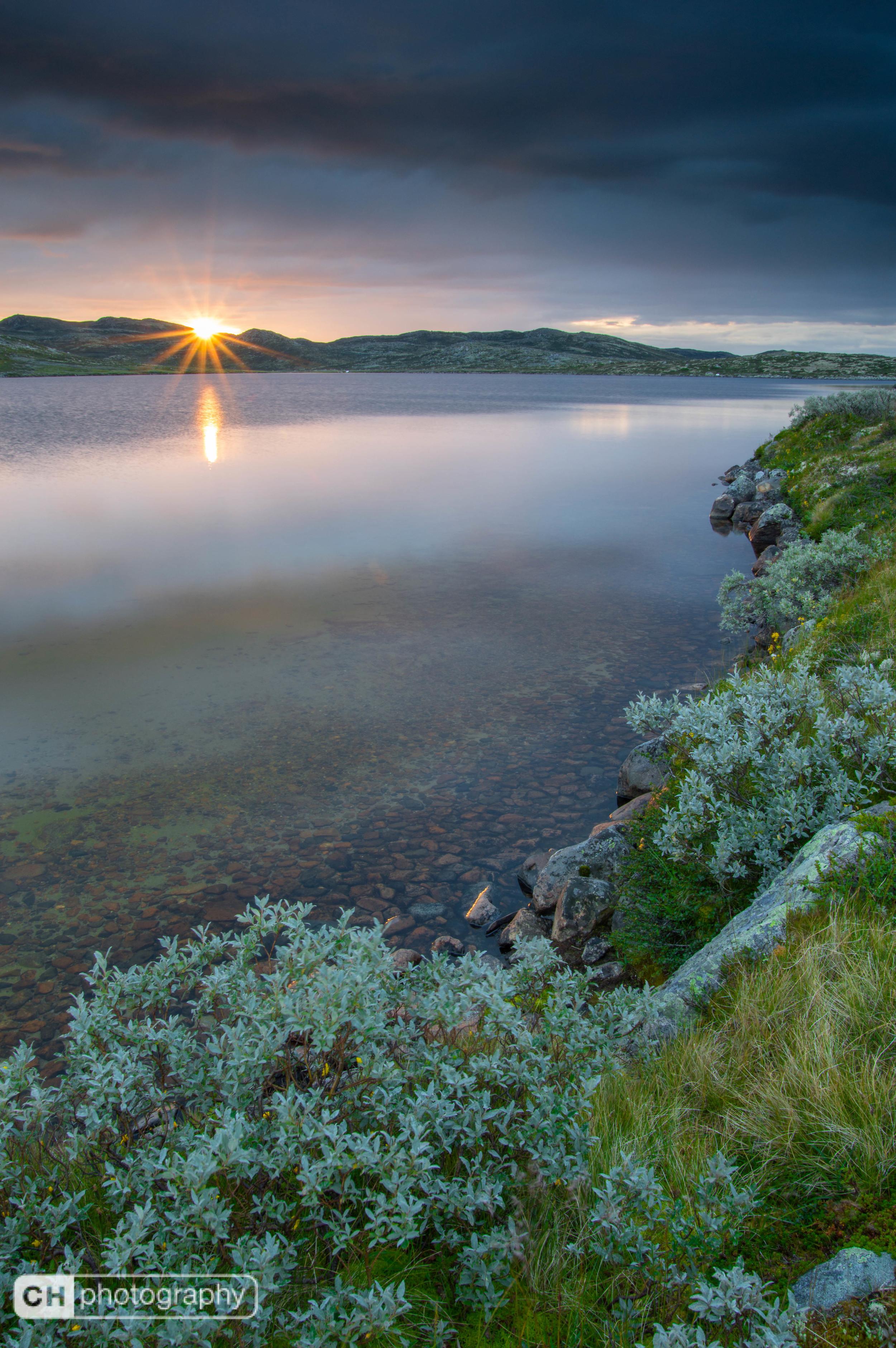 Beam of sun hardangervidda