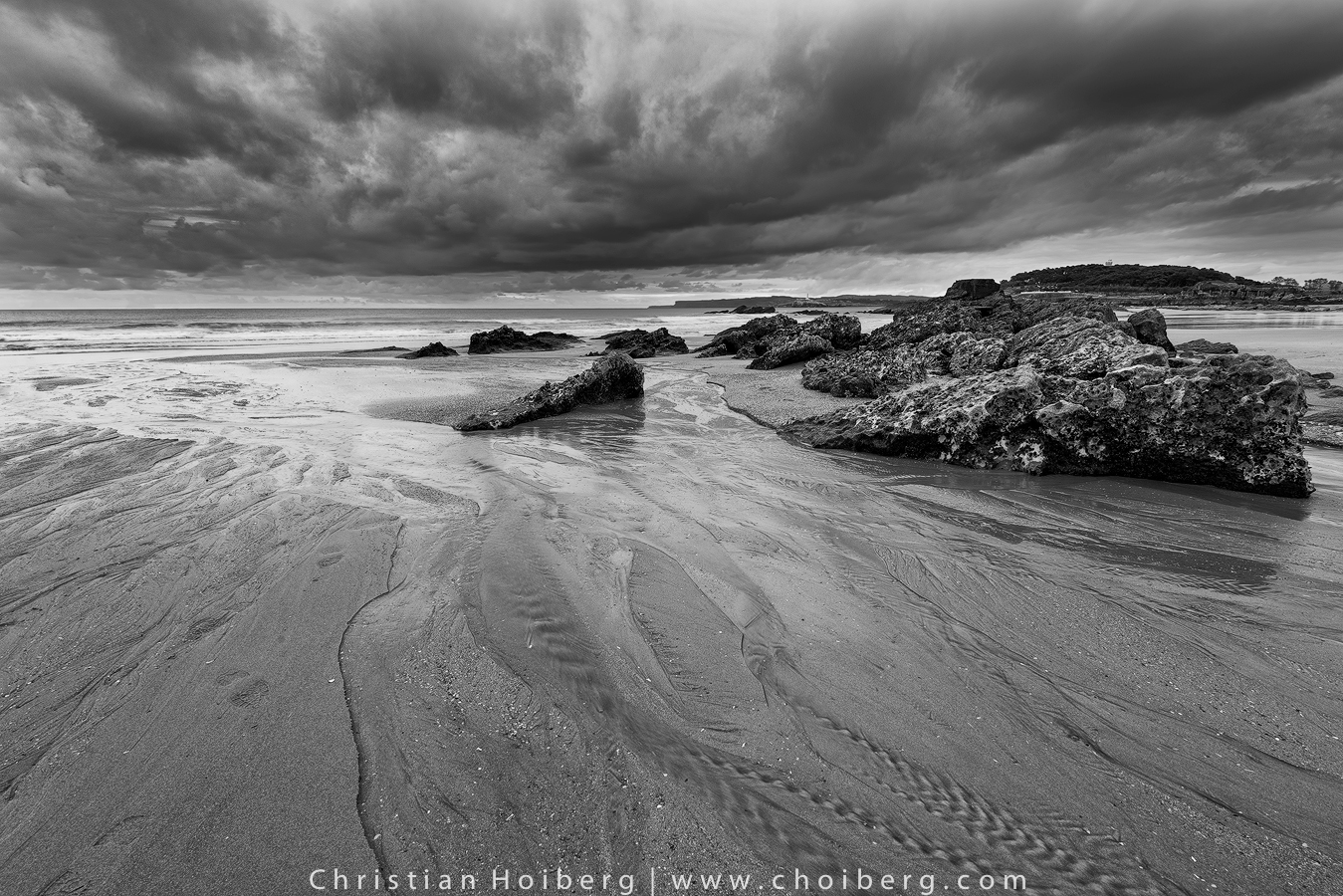 Clouds slowly leaving the Sardinero Beach