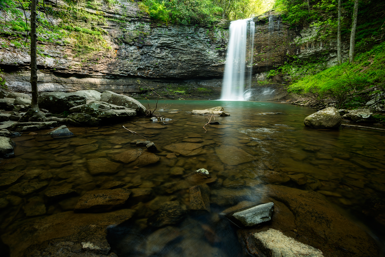 Cherokee Falls in the Cloudland Canyon waterfall loop