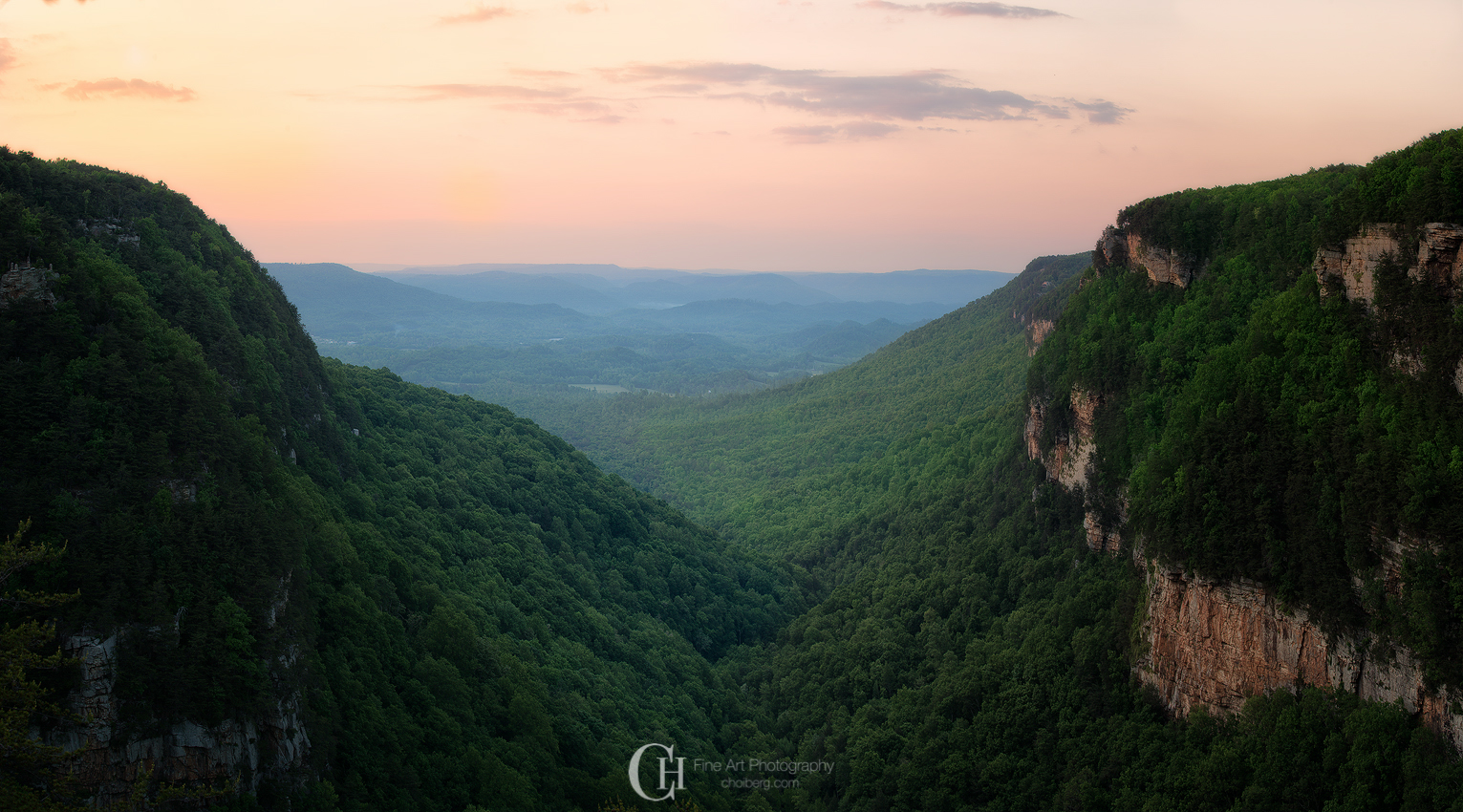 Panorama of Cloudland Canyon