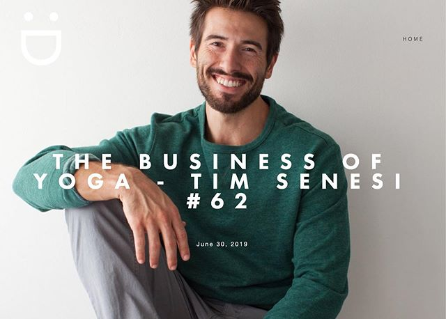 """I think with anyone looking at getting into having an online business (the secret is) to become empowered by knowing what you're good at & outsourcing what you're not good at & getting really good feedback. The little I have invested in that has paid off 10 fold."" - @timsenesiyoga - now up on the podcast. Yeow! 🎤😎🤙🏼 #timsenesiyoga #yoga #business"
