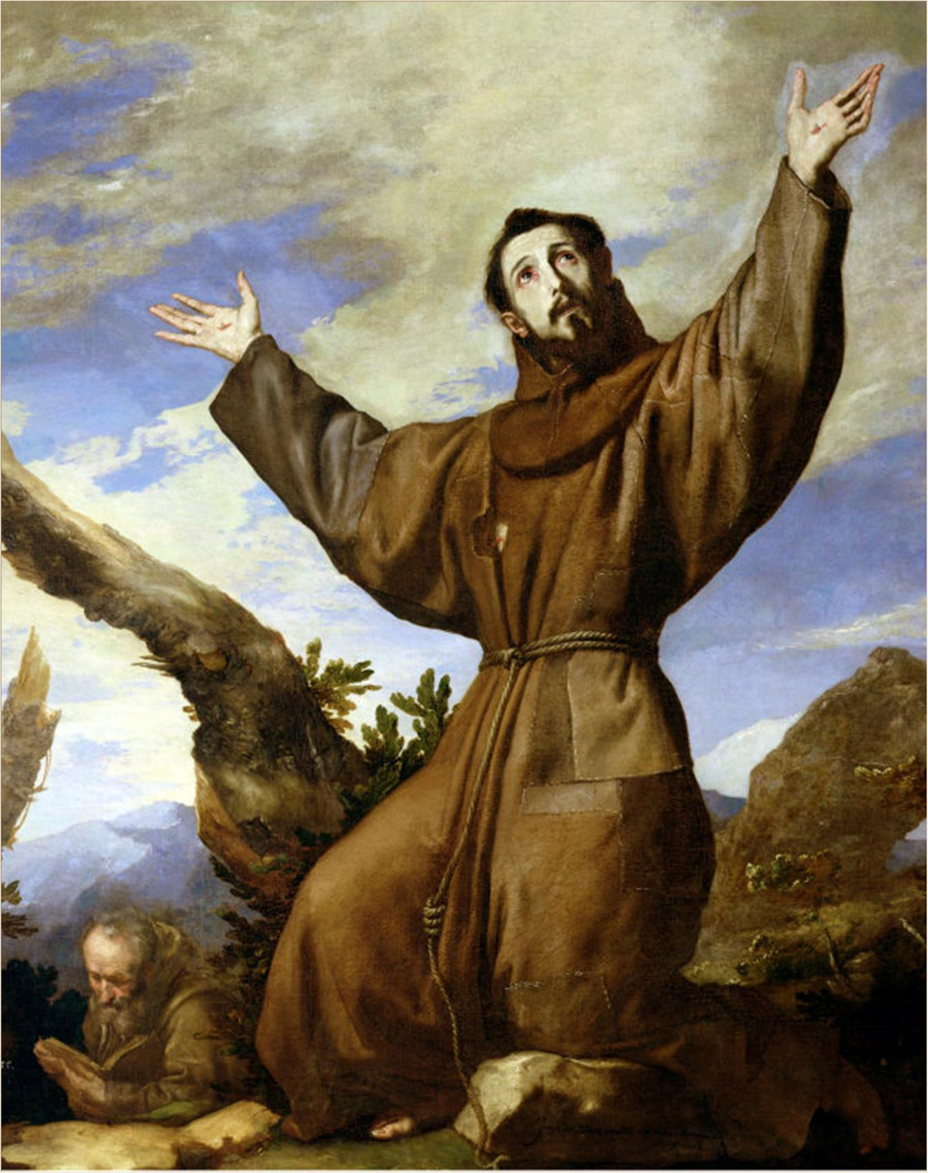 Saint Francis of Assisi in Ecstasy  by Jusepe de Ribera, (1639)