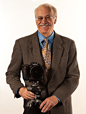 Barney with one of his beloved cameras.