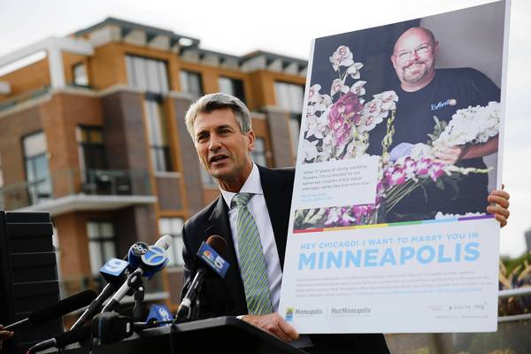 I Want to Marry You in Minneapolis  I was proud to be part of a team at  Zeus Jones  that helped then-mayor R.T. Rybak stir the cultural conversation about equal marriage rights.  Here's a USA Today story about it .