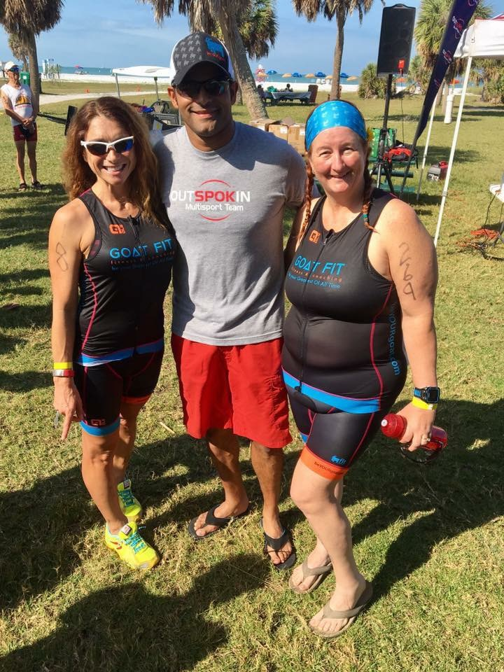Coach Monika, Jay and Angela after St Anthony's Triathlon.