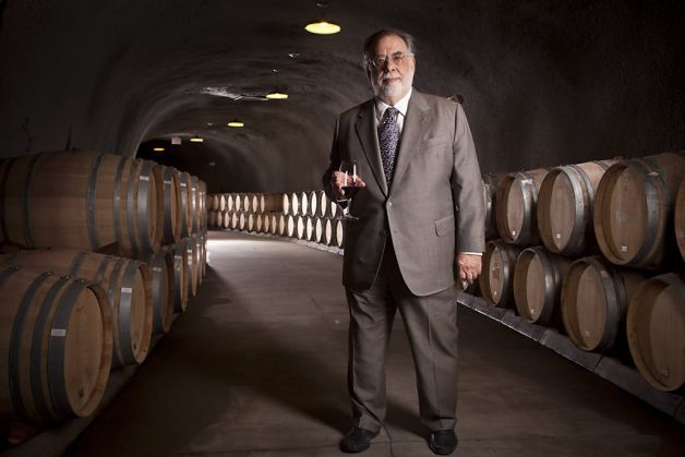 Francis Ford Copolla in the wine cave at Inglenook. Photo courtesy of  sfgate.com