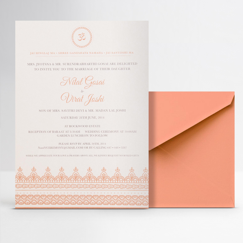 Graphic Design of Wedding Invitation Collateral