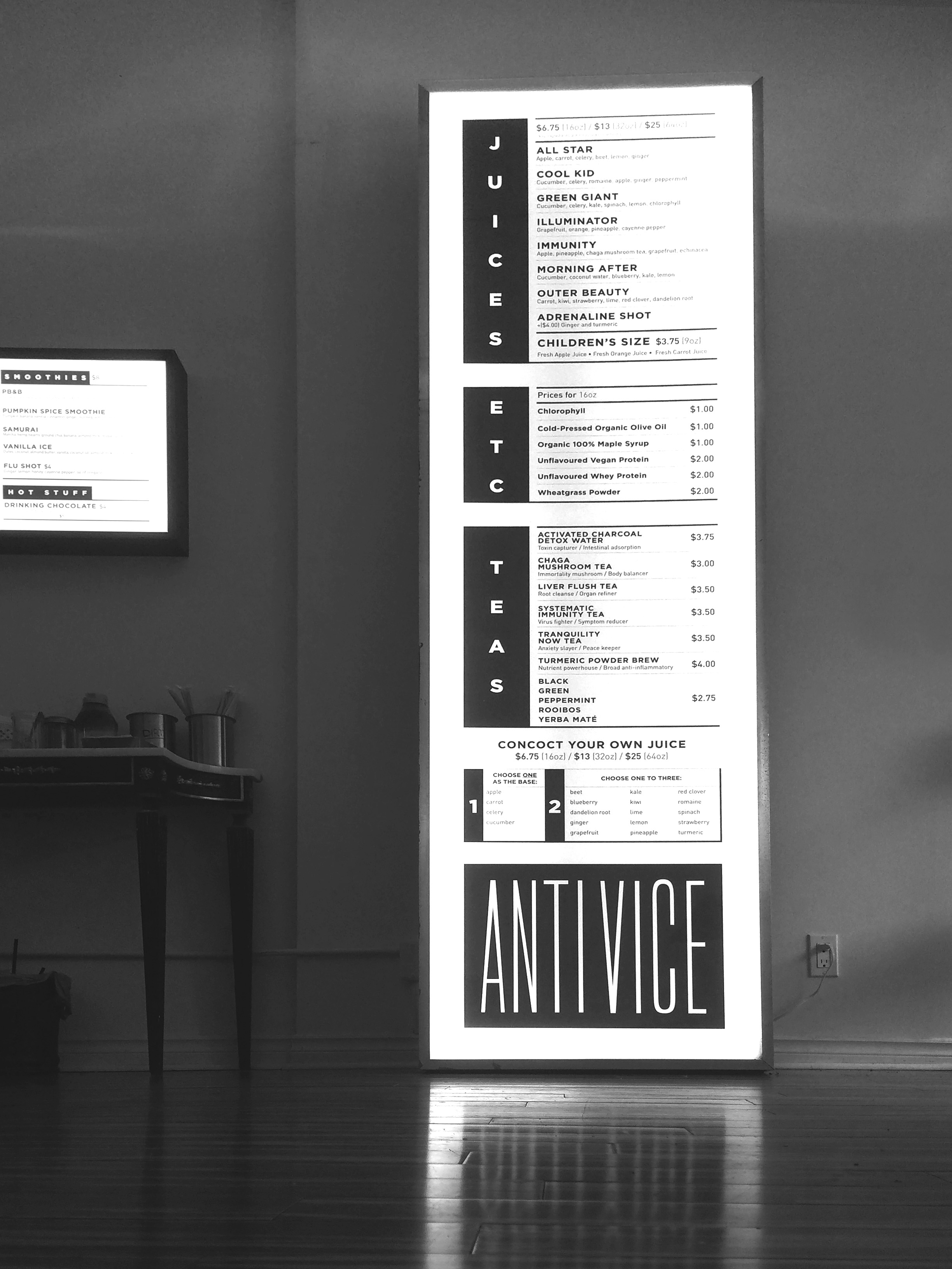 Menu Lightbox Design