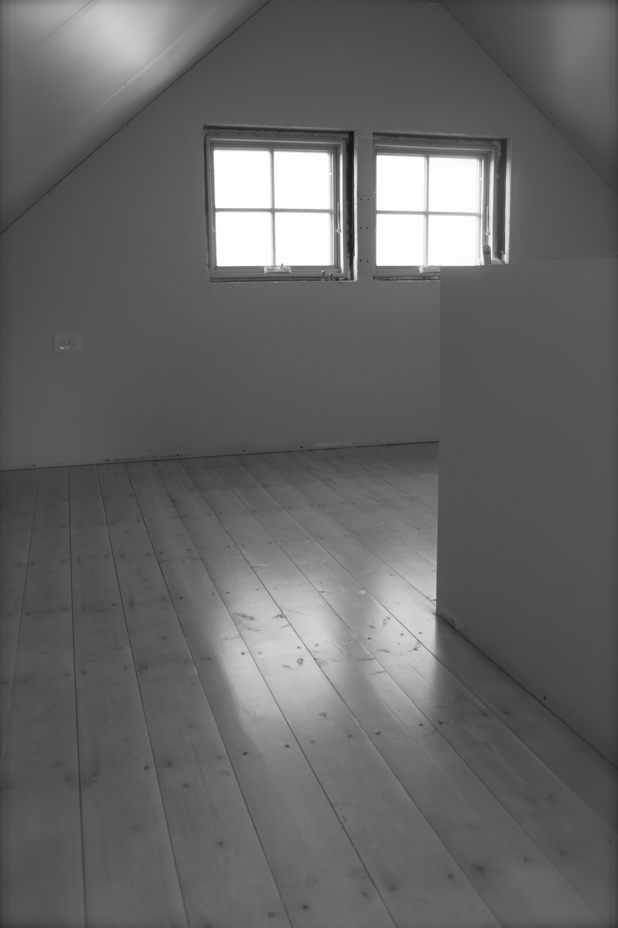 The white washed floor of our reading room