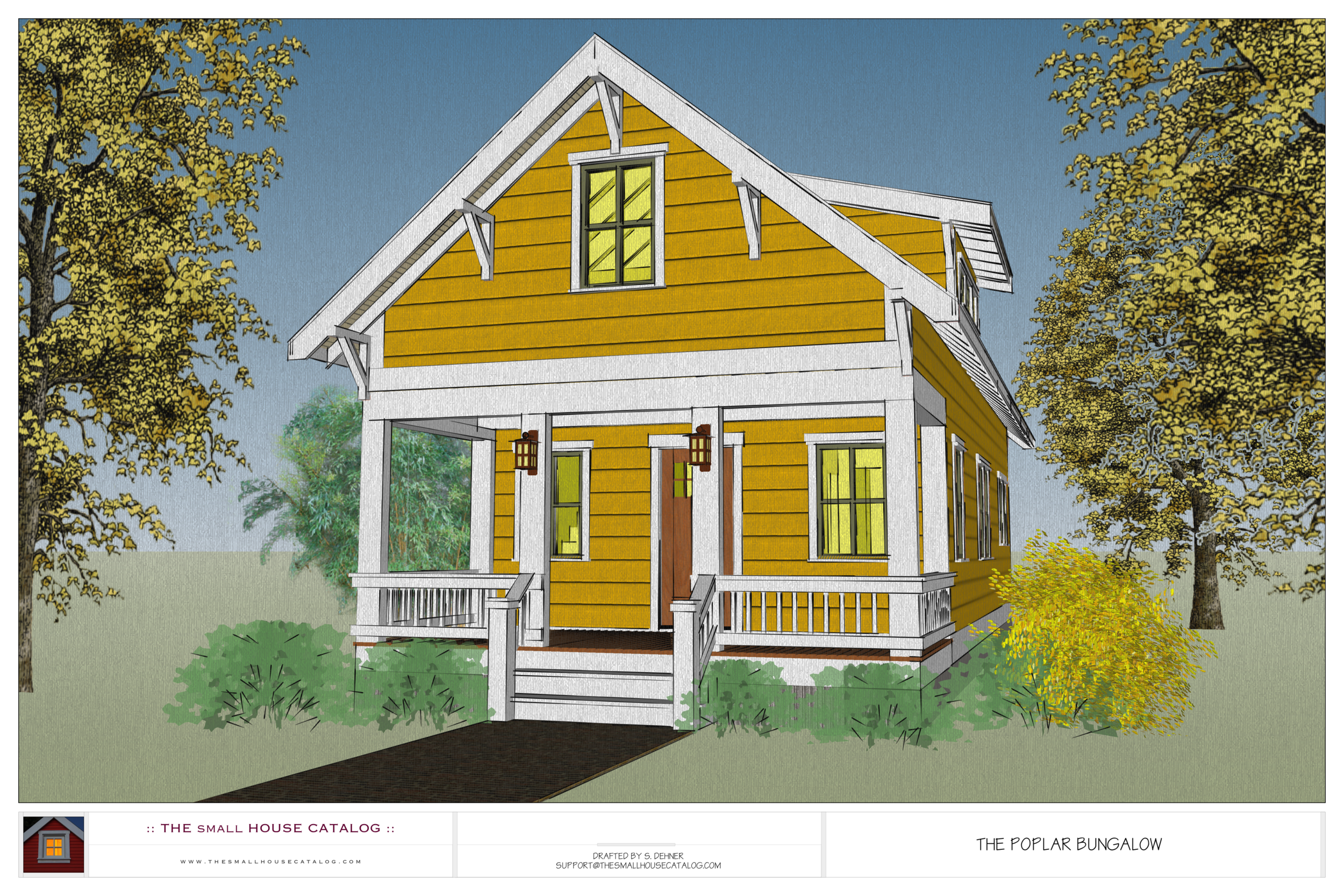 No. 6 - The Poplar (Free House Plan Download) — THE small ... Miami Style House Plans on miami area house plans, miami style decorating, miami style bathroom, miami style homes, miami style bedroom, miami style furniture,