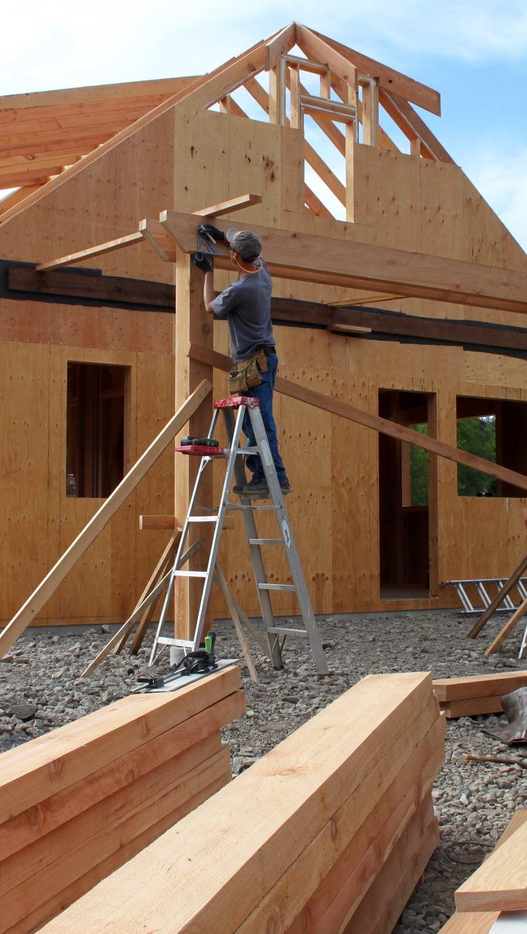 Building the pergolas