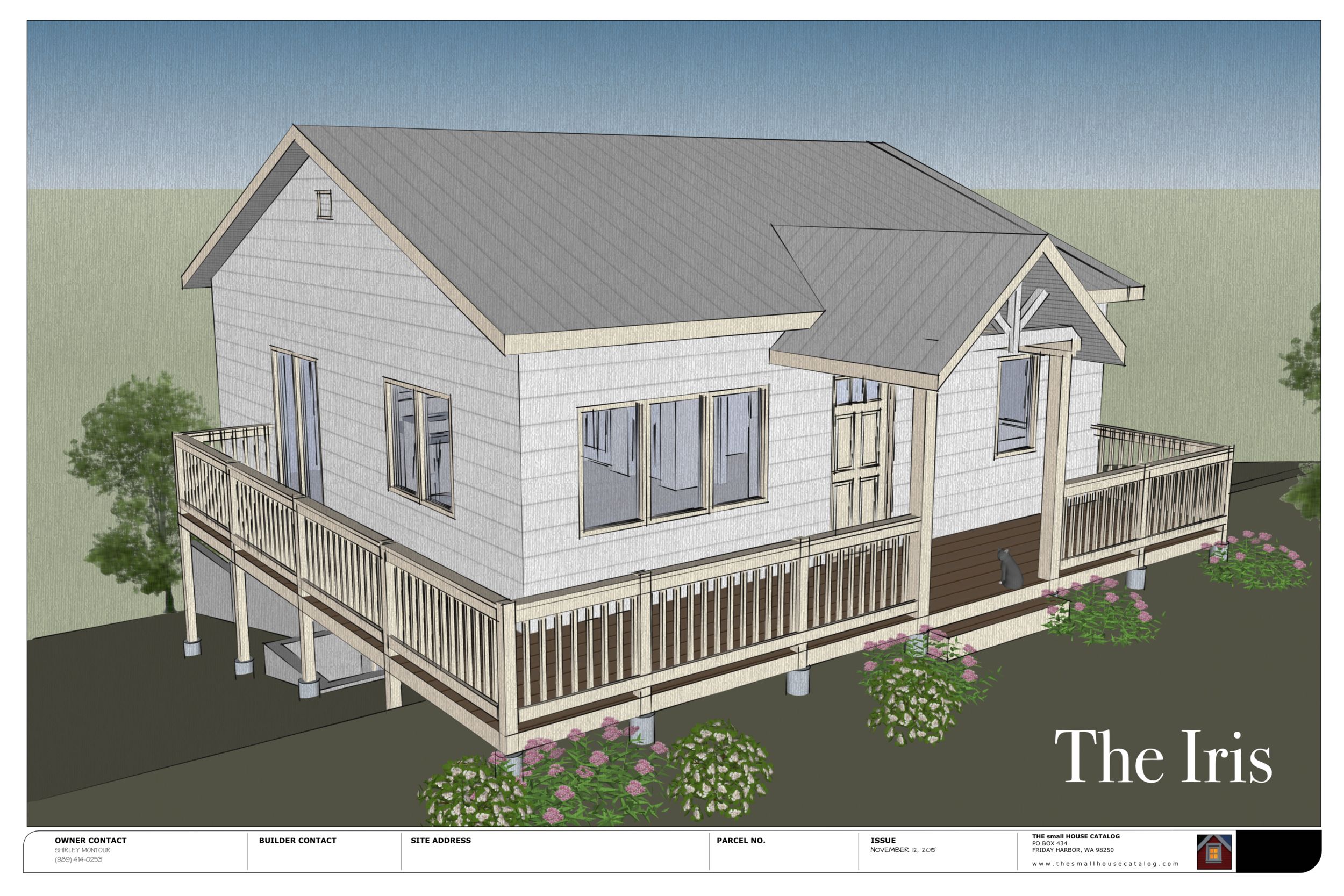 The Iris is a client-based plan designed to build an ADA approved single floor house with a furnished basement. Plan is offered as a free download.