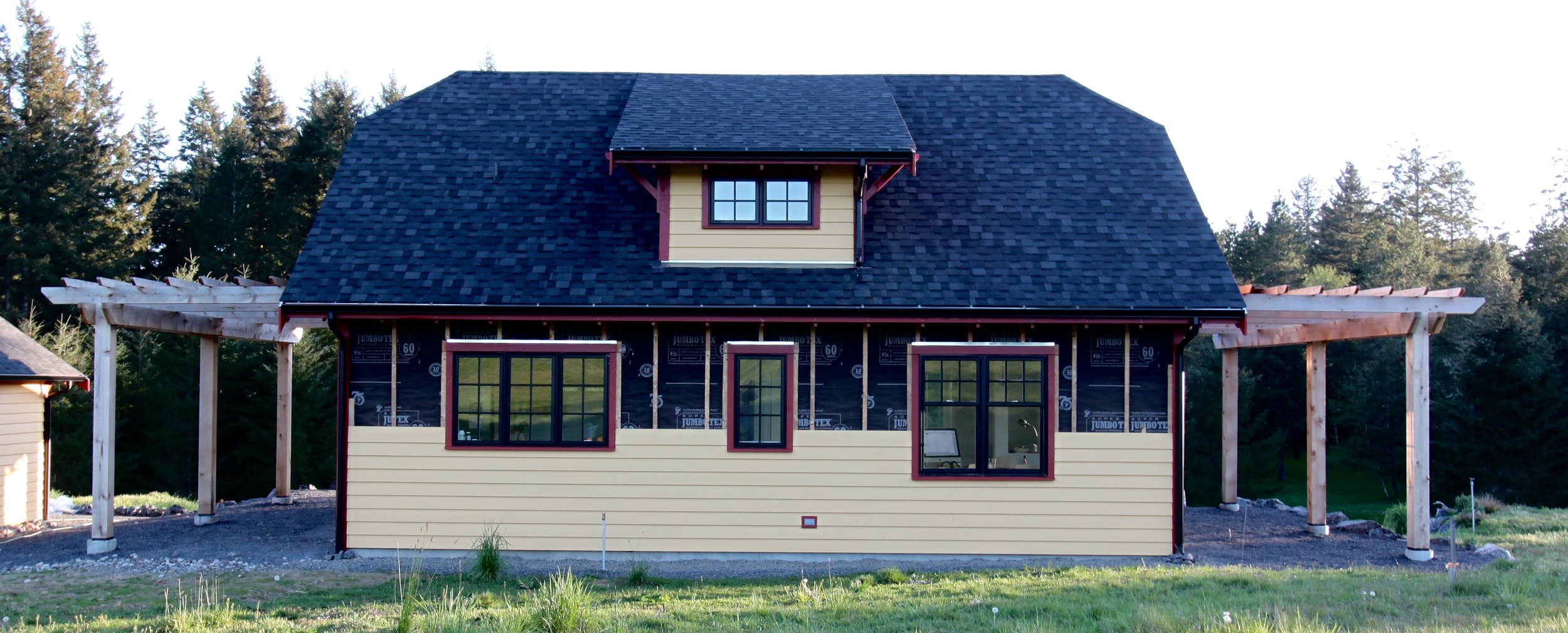 Siding goes up fast!