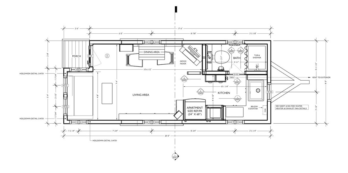 Floor Plans For Tiny Houses   1 Moschata Tiny House The Small House Catalog