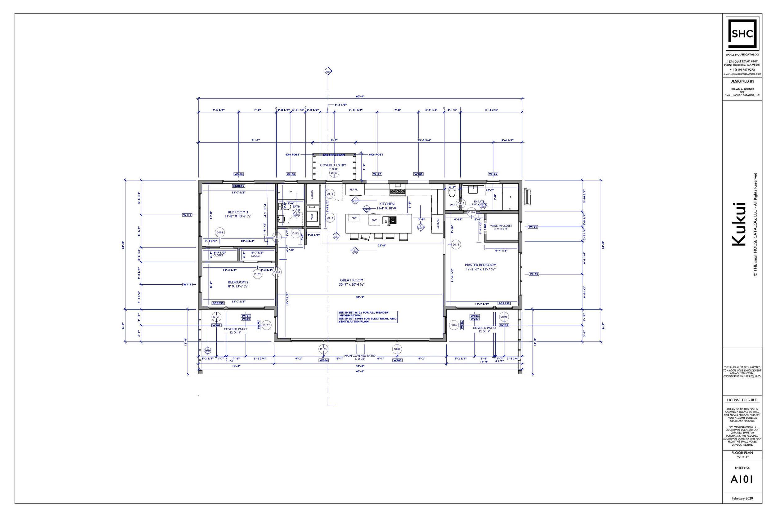 Residential Plumbing Drawing Plan