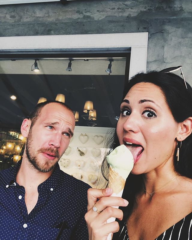 """The """"that's your 5th gelato today."""" look... 😬 #fbf #italy"""