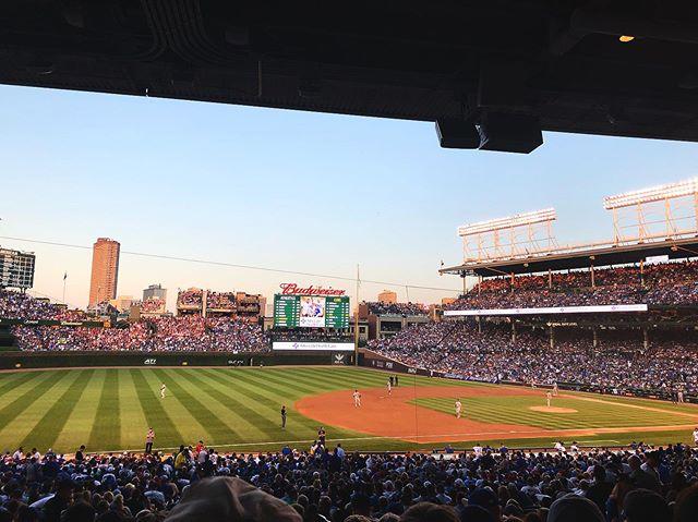 Great night for #baseball ⚾️#chicagocubs #summernights #wrigleyfield