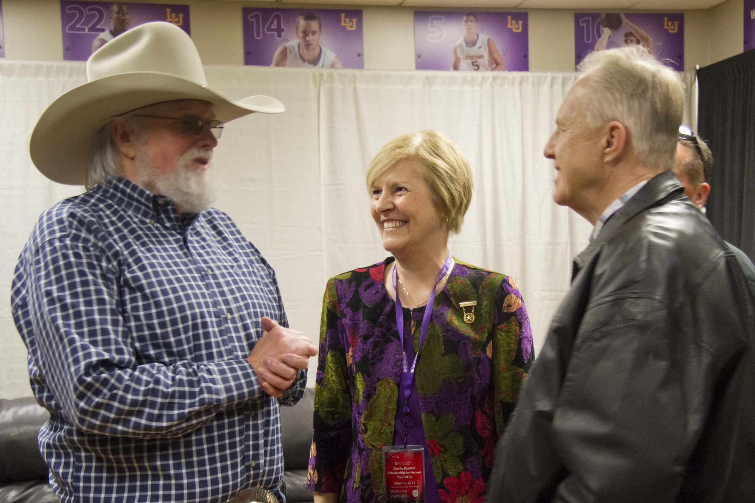Lloyd and Mary with Charlie Daniels