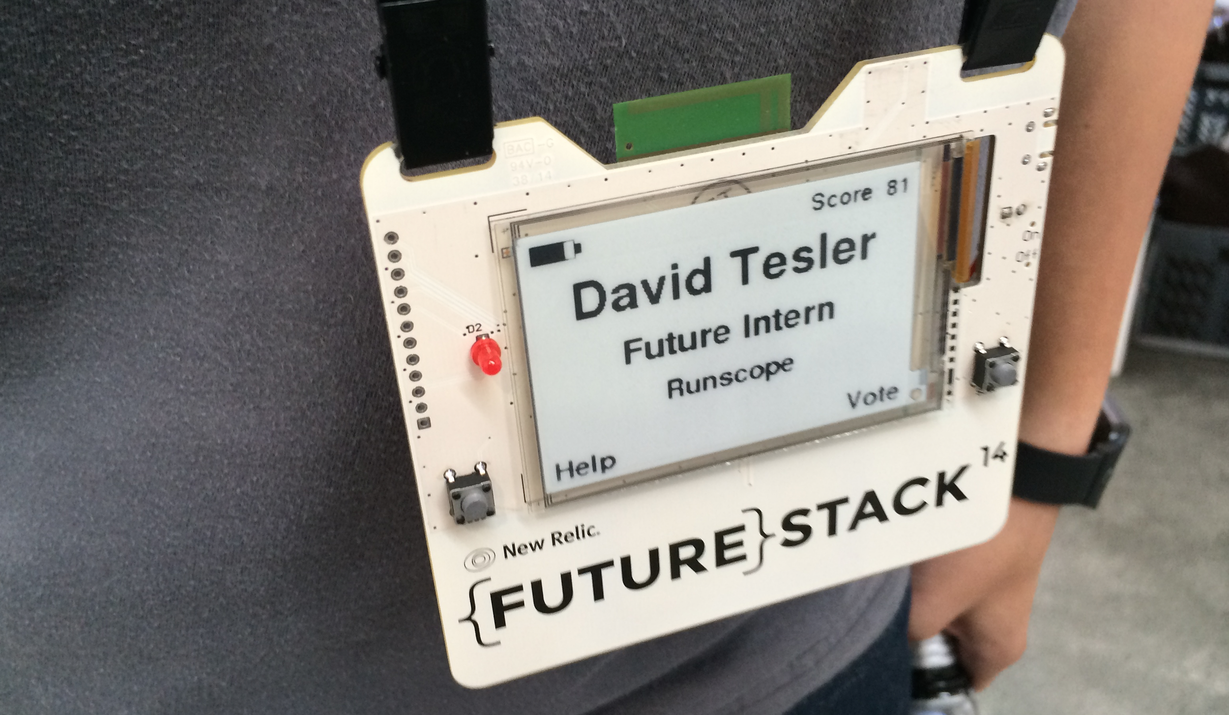 David just submitted his resume by digital lanyard