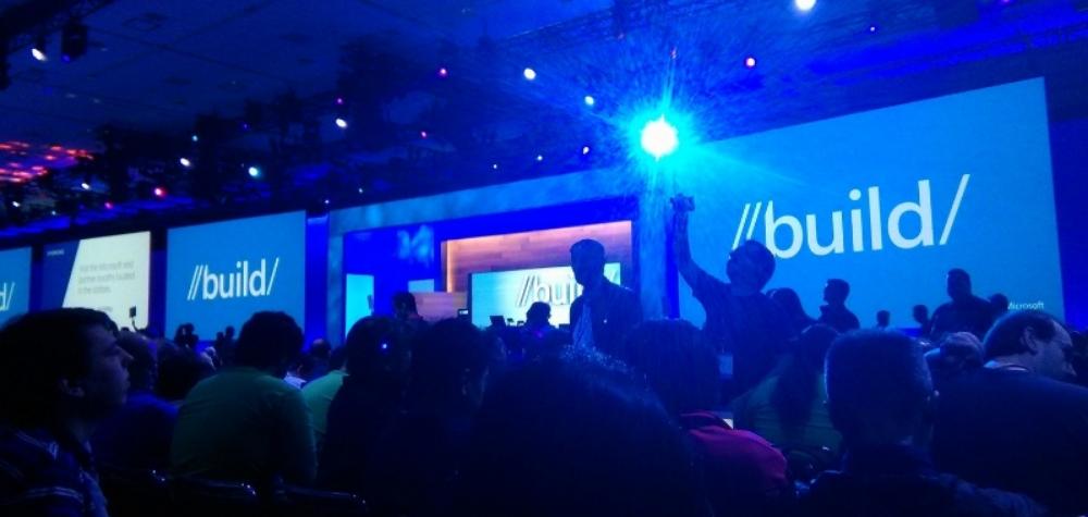 The crowd during a keynote presentationat Microsoft Build in San Francisco.