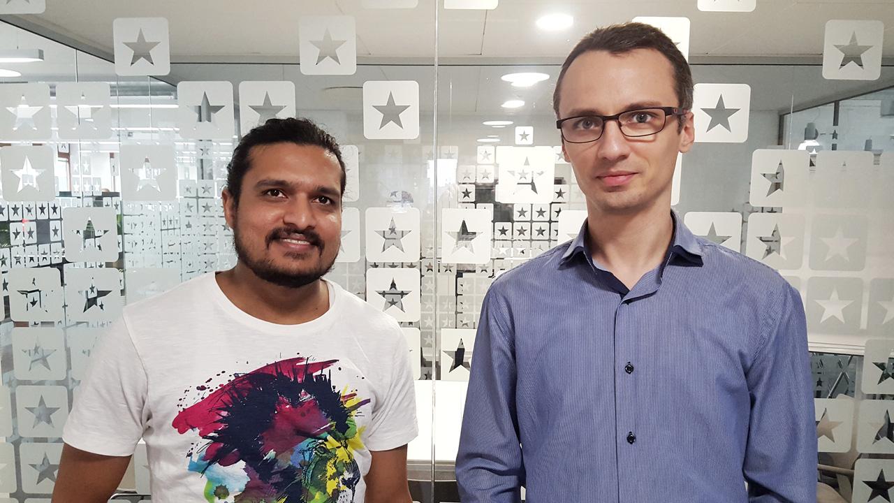 Vikram Mahishi (left) and Dumitru Zavrotschi (right) from the Trustpilot team