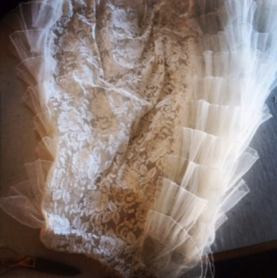 Cutting the skirt off of a dress this old and gorgeous is exciting.  Better be sure of what you're doing!