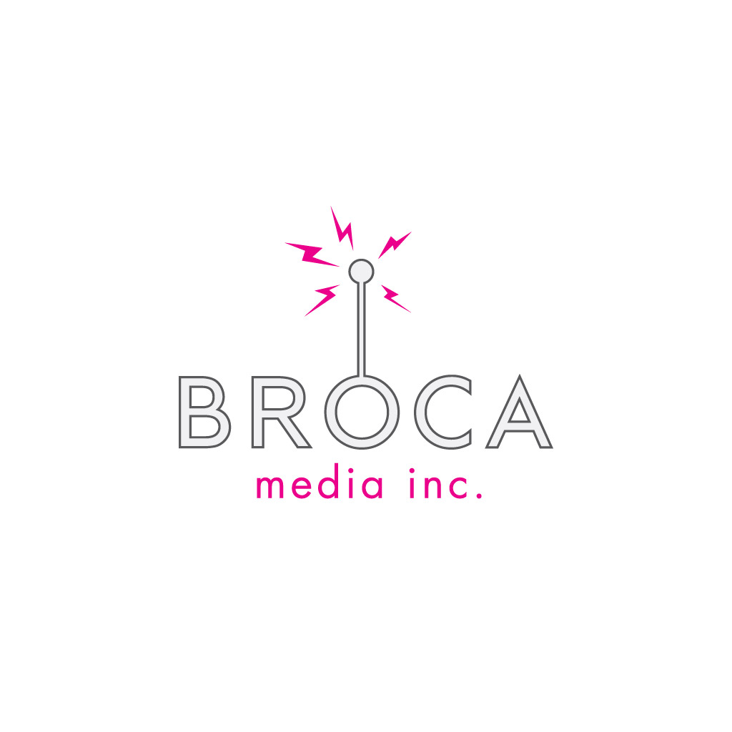 Identity Design and Logo: Broca Media Inc.