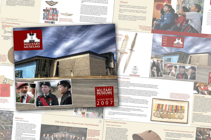 Annual Report Design: Calgary Military Museums Society