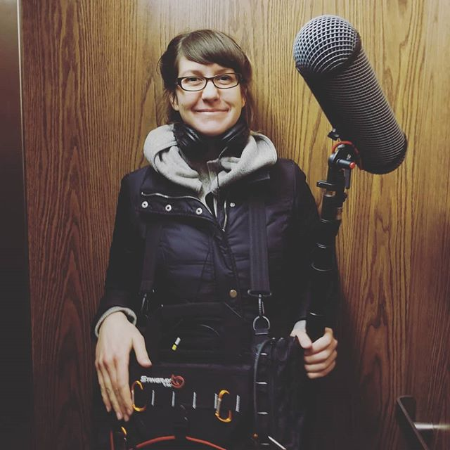 Cutest sound recordist ever. #ATypicalHeart #STORYHIVE @laura_dawn_beauchamp